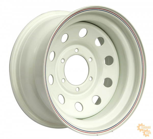 Диск усиленный стальной белый 6x139,7 7xR16 d110 ET-15