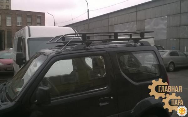 Багажник экспедиционный Б04.05 на Suzuki Jimny (1600х1000х120мм) с сеткой и креплениями на рейлинг