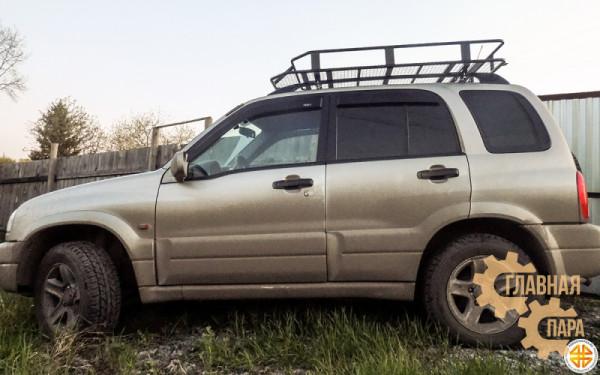 Багажник экспедиционный Б114.05 на Suzuki Vitara 5 дверный (1600х1100х120мм) с сеткой, на рейлинги