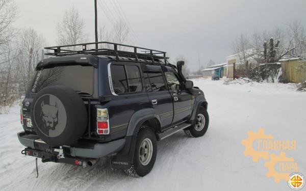 Багажник экспедиционный Б12.03 на TLC 80 (2200х1200х120мм) с сеткой