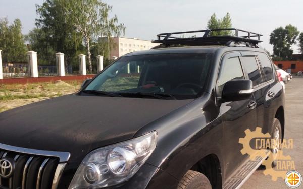 Багажник экспедиционный Б07.05 на TLC Prado 150 (1700х1200х120мм) с сеткой на рейлинги