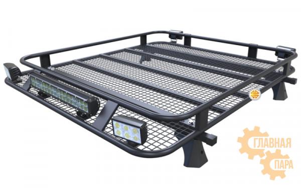 Багажник экспедиционный Б09.03 для Toyota Hilux 2005-2015 (1400х1200х120мм) с креплениями на крышу