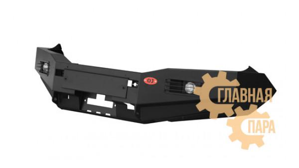 Бампер передний силовой OJ 02.011.03 на Toyota Hilux 2011-2015 + доп. опции
