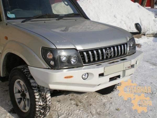 Бампер передний силовой Вездеходофф для Toyota Land Cruiser Prado 90/95 с фарами