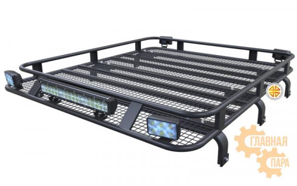 Багажник экспедиционный Б93.03 на TLC Prado 90, 95 (1600x1200х120мм) 3х дверный