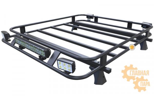 Багажник экспедиционный Б09.02 для Toyota Hilux 2005-2015 (1400х1200х120мм) с креплениями на крышу