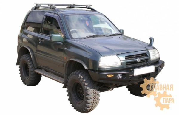 Бампер передний силовой Вездеходофф на Suzuki Escudo 1997-2005 с площадкой под лебедку и фарами