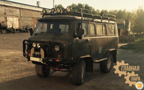 Багажник экспедиционный Б74.03 на УАЗ Буханка (3300х1500х120мм) с сеткой