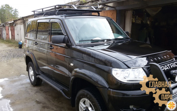Багажник экспедиционный Б15.03 на УАЗ Патриот (2100х1200х120мм) с сеткой