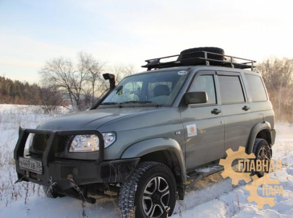 Багажник экспедиционный Б10.02 на УАЗ Патриот (2100х1200х120мм)