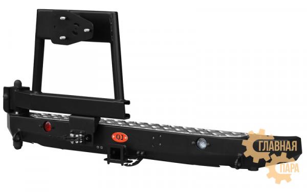 Задний силовой бампер OJ 03.105.03 для ВАЗ 2121 Нива с облегченной калиткой под запаску