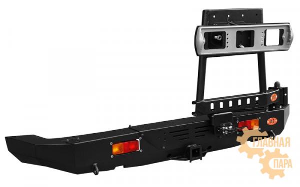 Задний силовой бампер OJ 03.113.04 для Jeep Wrangler JК с правой универсальной калиткой