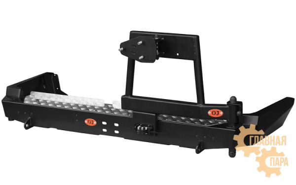Задний силовой бампер OJ 03.177.03 для Toyota Land Cruiser 80 с калиткой