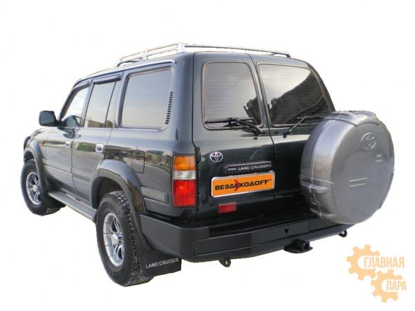 Бампер силовой задний Вездеходофф для Toyota Land Cruiser 80 с калиткой запасного колеса