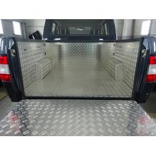 Обшивка грузового кузова с карманами UAZ Пикап 2015- , рифл. алюм. 2мм, некрашенный АВС-Дизайн