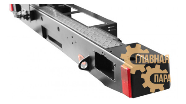 Бампер задний силовой OJ 03.107.03 для УАЗ Хантер с калиткой и площадкой под лебедку
