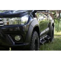Расширители колёсных арок (вынос 25 мм) Toyota Hilux 2015+
