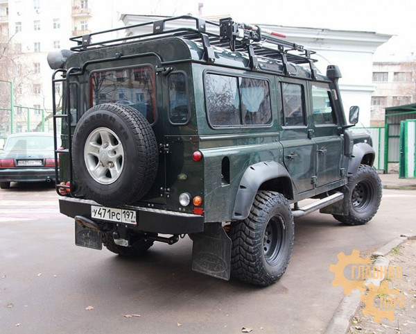 Бампер силовой задний РИФ для Land Rover Defender