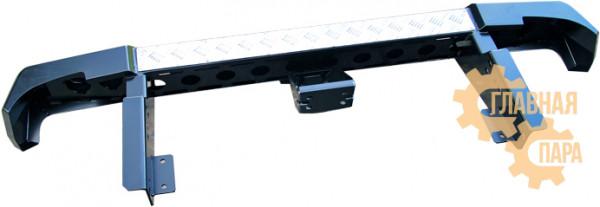 Бампер задний силовой РИФ RIF061-21100 на УАЗ Патриот Пикап с квадратом под фаркоп, стандартный кузов