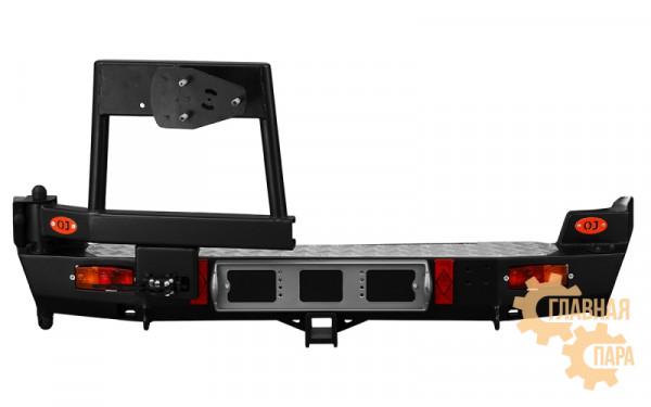 Задний силовой бампер OJ 03.117.03 для Нива Шевроле с облегчённой калиткой под запаску