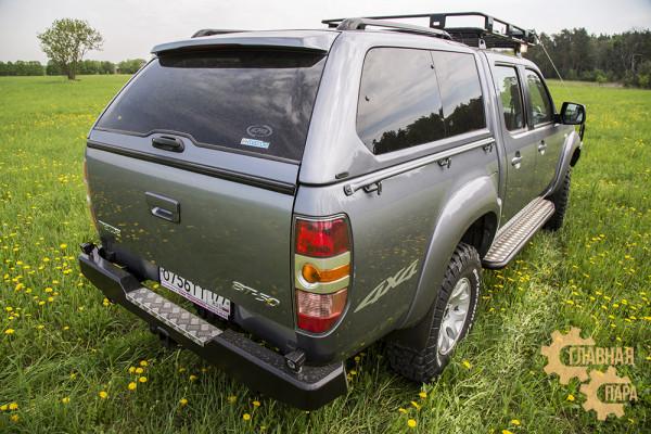 Бампер задний силовой РИФ RIFBT5-20100 на Mazda B2500,BT50 / Ford Ranger T5 (2006-2010) с квадратом под фаркоп