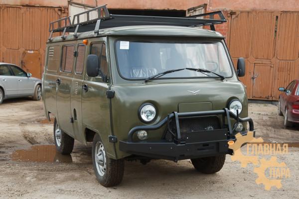 Бампер передний силовой OJ 02.051.03 на УАЗ Буханка с кенгурином