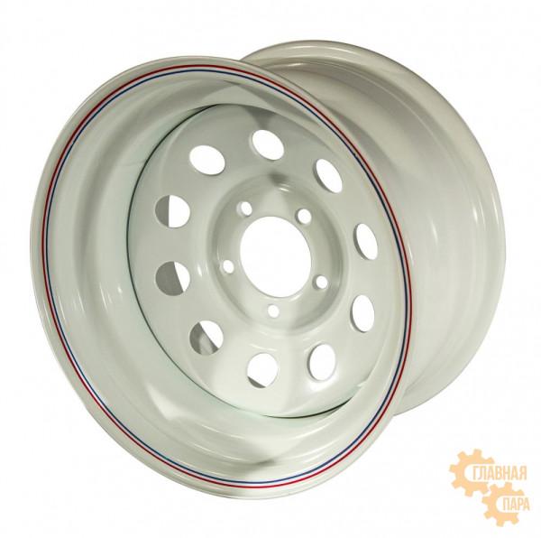 Диск усиленный УАЗ стальной белый 5x139,7 10xR15 d110 ET-44