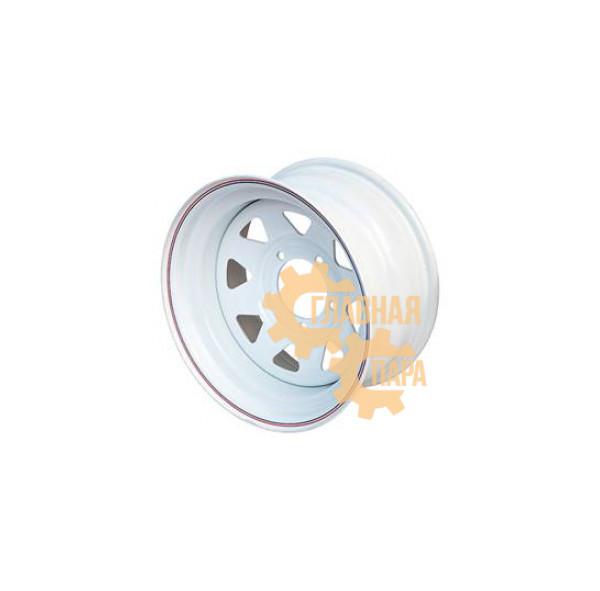 Диск усиленный УАЗ стальной белый 5x139,7 10xR15 d110 ET-44 (треугольник)