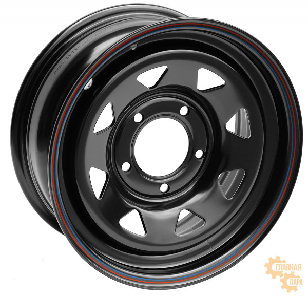 Диск усиленный ВАЗ НИВА стальной черный 5x139,7 7xR16 d98,5 ET+25 (треугольник мелкий)