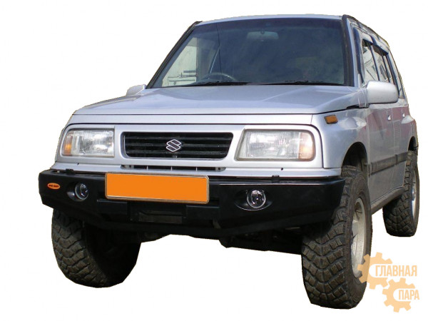 Бампер передний силовой Вездеходофф на Suzuki Escudo до 1997 с площадкой под лебедку и фарами