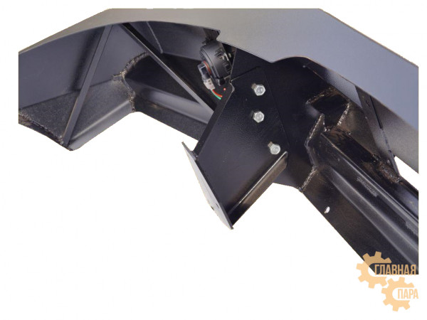 Бампер передний силовой Вездеходофф на Great Wall Hover 3 с площадкой под лебедку и фарами