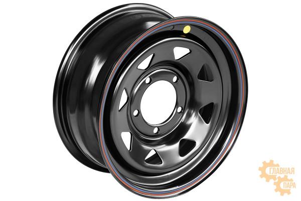 Диск усиленный УАЗ стальной черный 5x139,7 7xR16 d110 ET+25 (треугольник мелкий)