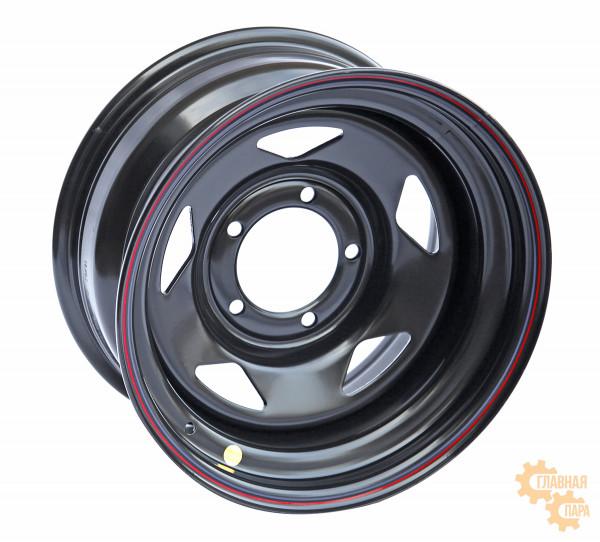 Диск усиленный УАЗ стальной черный 5x139,7 8xR16 d110 ET-19 (треугольник)