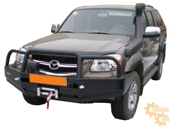 Бампер передний силовой Вездеходофф для Mazda BT-50 2006-2011 с кенгурином и фарами