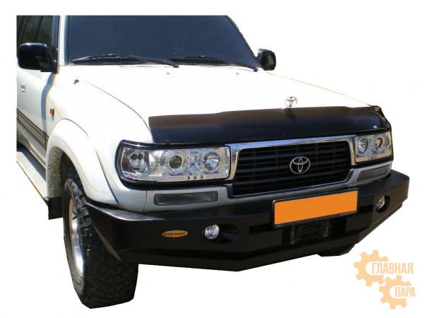 Бампер передний силовой Вездеходофф для Toyota Land Cruiser 80 с фарами