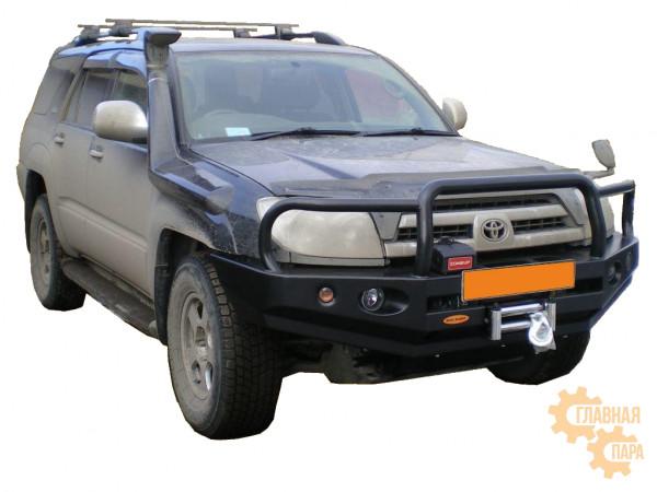 Бампер силовой передний Вездеходофф для Toyota Hilux Surf 215 с кенгурином и фарами