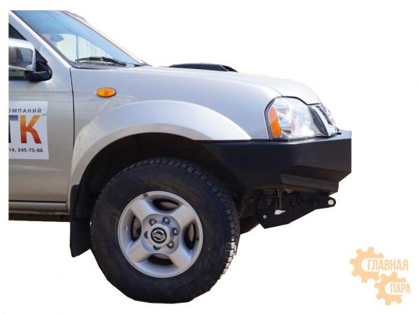 Бампер передний силовой Вездеходофф для Nissan NP300 с площадкой под лебедку