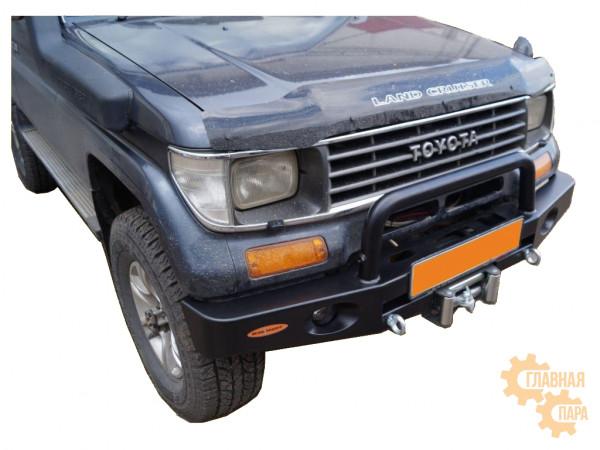 Бампер передний силовой Вездеходофф для Land Cruiser Prado 78 до 2004 с центральной дугой и фарами
