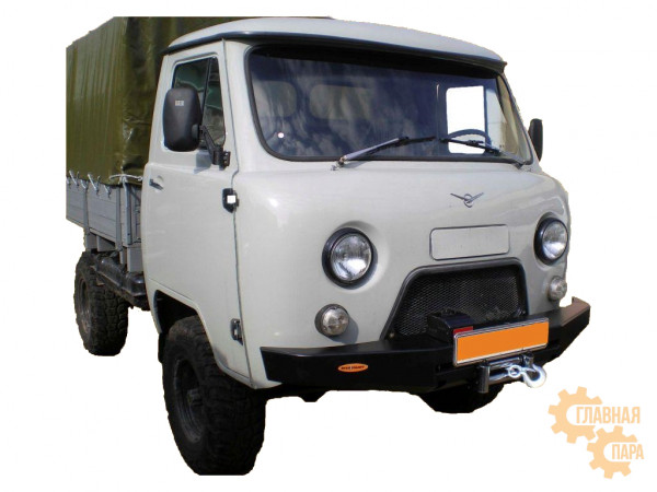 Бампер передний силовой Вездеходофф для УАЗ 452 Буханка с площадкой под лебедку