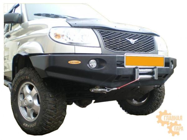 Бампер передний силовой Вездеходофф для УАЗ Патриот под лебедку и доп. фарами