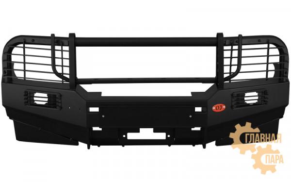 Бампер передний силовой OJ 02.002.03 на Mitsubishi Pajero Sport 1 + доп. опции