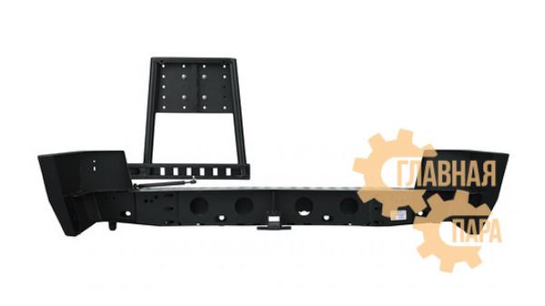 Задний силовой бампер OJ 03.110.12 с правой универсальной калиткой (открывается совместно с дверью) для УАЗ Патриот в т.ч. рестайлинг 2014-