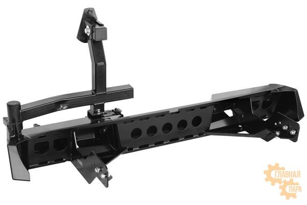 Бампер задний силовой РИФ RIFTMQ-20250 на Mitsubishi L200 2015+ с фонарями и калиткой