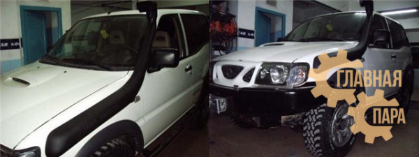 Шноркель Telawei SND22A для Nissan Pathfinder/ Navara D22/ Terrano 2/ Mistral/ Terrano PR50