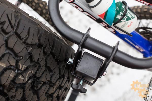 Велобагажник РИФ S803A в квадрат для фаркопа на 2 велосипеда