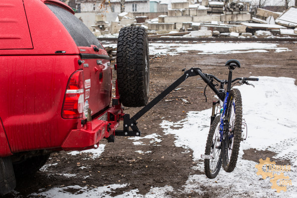 Велобагажник РИФ S803B в квадрат для фаркопа на 3 велосипеда