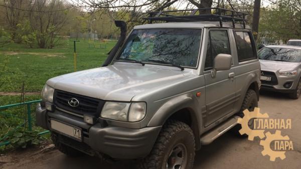 Багажник экспедиционный Б96.03 на Hundai Galloper (3 дв.) 1500х1250х120мм с сеткой