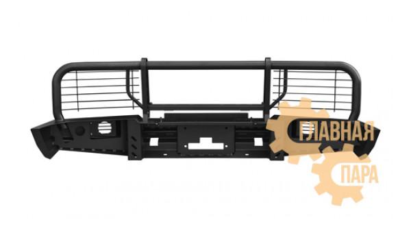 Бампер передний силовой OJ 02.025.03 для Toyota Land Cruiser 80 + доп. опции