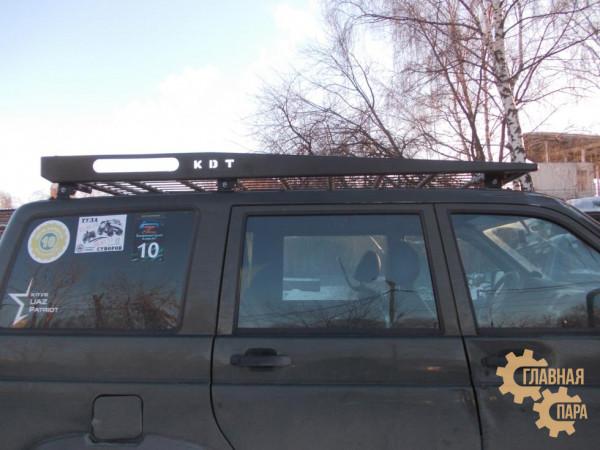 Багажник экспедиционный KDT (штампованный) для УАЗ Патриот