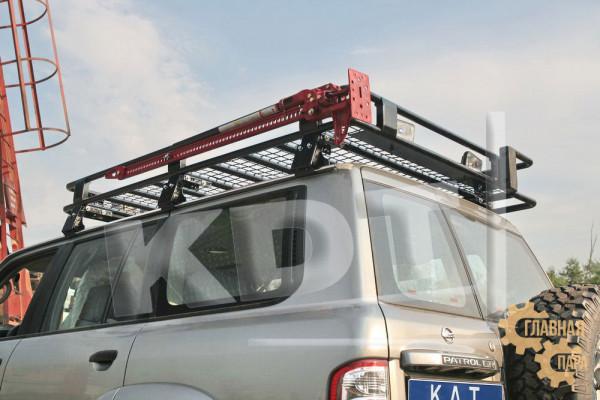 Багажник экспедиционный KDT для Nissan Patrol (6 опор)